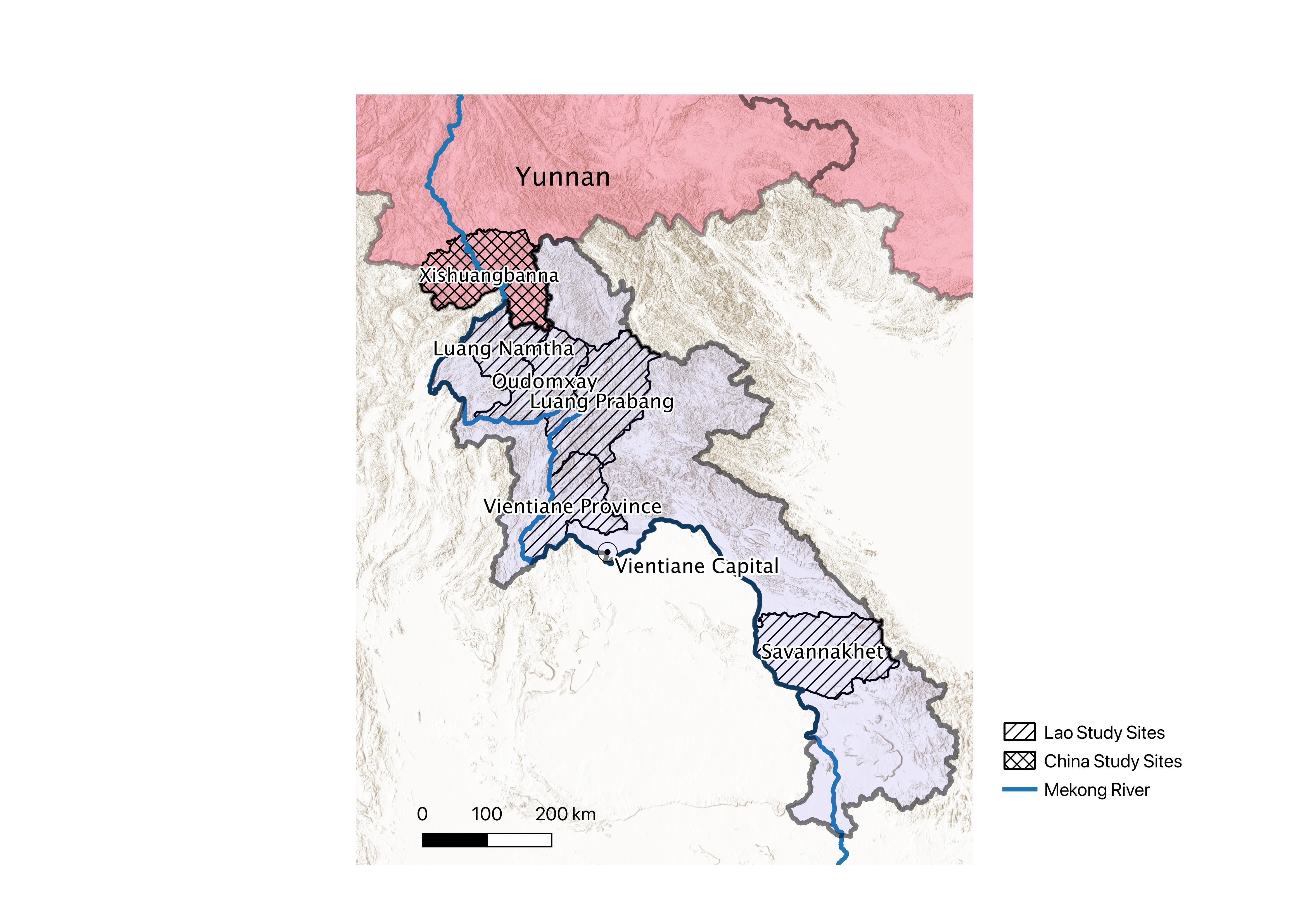 Map of China/Laos